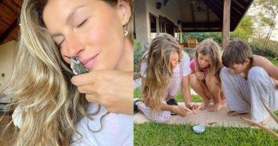 Gisele Bündchen salva beija flor com os filhos e relata experiência: 'Nunca esqueceremos' – Jovem Pan