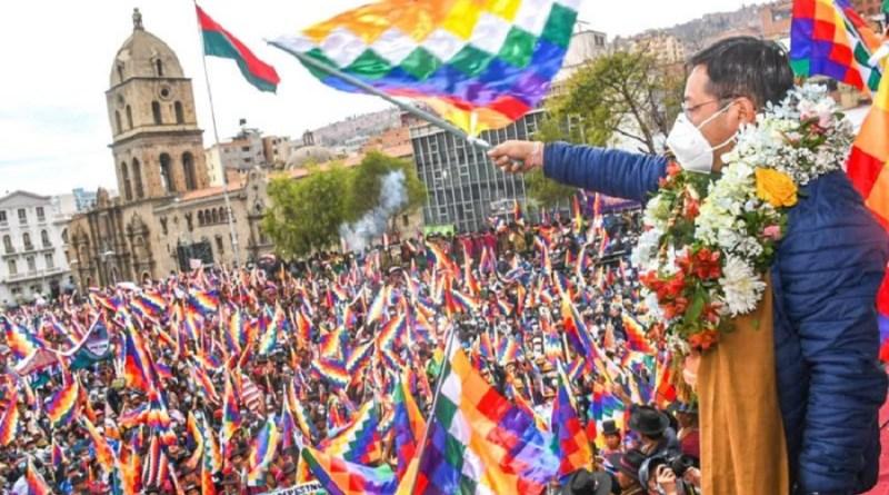 Bolivianos tomam as ruas em apoio ao governo Arce e repúdio à greve patronal   Hora do Povo