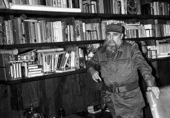 Fidel em seu escritório, 23 de setembro de 1990.