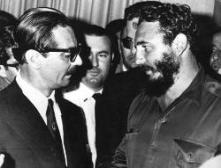 Fidel e Jânio Quadros (na época, presidente brasileiro)..