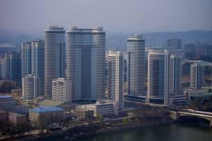 Moradias populares de Pyongyang.
