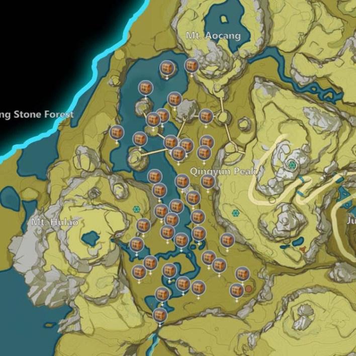Горная Тропа: Все Амулеты Лунной Охоты и Сундуки Таинственной Луны Genshin Impact 2.1