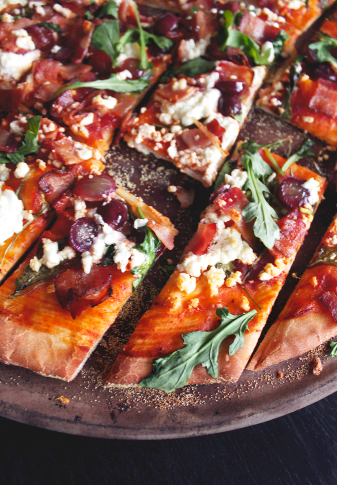 bacon grape goat cheese pizza. Black Bedroom Furniture Sets. Home Design Ideas