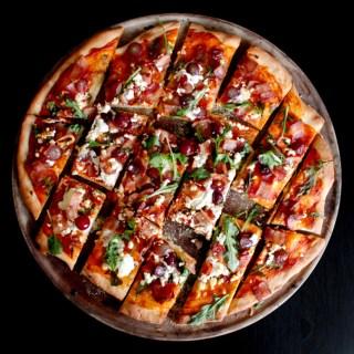 Bacon, Grape & Goat Cheese Pizza