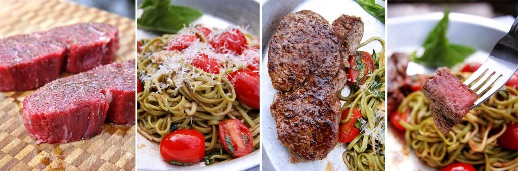 Restaurant Style Beef Tenderloin with Fresh Pasta