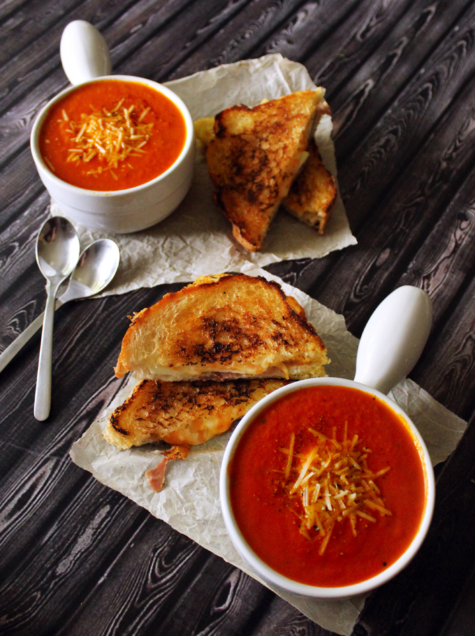 Thick & Creamy Tomato Basil Soup with Prosciutto, Apple ...