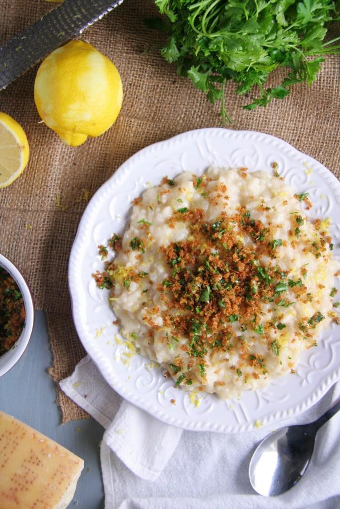 Lemon Risotto with Gremolata Pangrattato