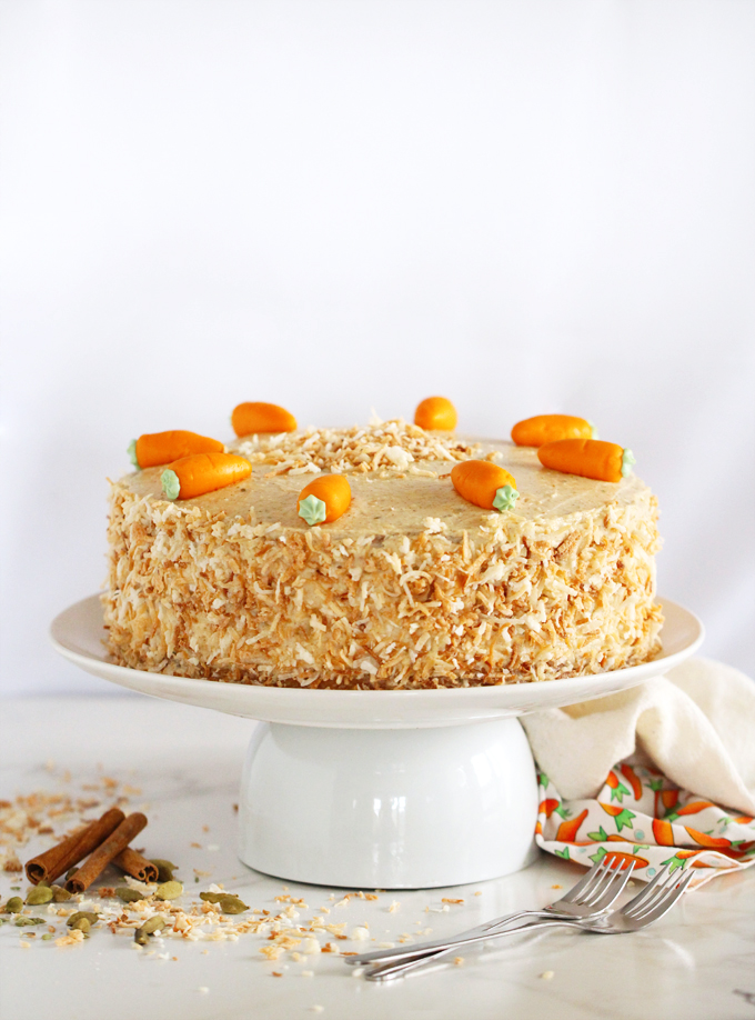 Prime Double Chai Carrot Cake With Toasted Coconut Personalised Birthday Cards Bromeletsinfo