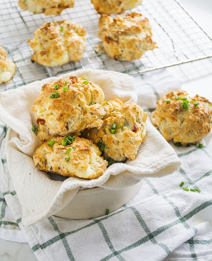 Sun-dried Tomato & Goat Cheese Drop Biscuits