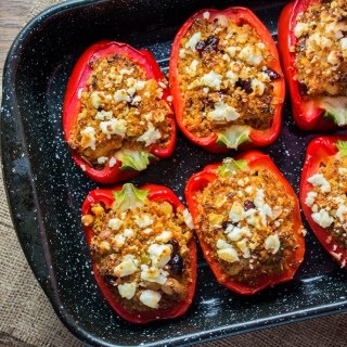 Moroccan Quinoa Stuffed Peppers