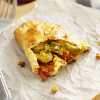 Bacon, Pickle & Smoked Cheddar Calzones