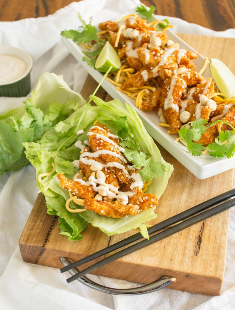 Szechuan Chicken Lettuce Wraps