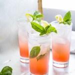 Grapefruit Soda with Honey, Basil & Lemon