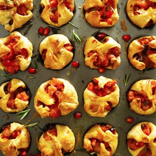 Mini Yam & Pomegranate Puff Pastry Bites