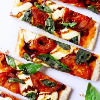Bocconcini, Tomato & Basil Flatbread