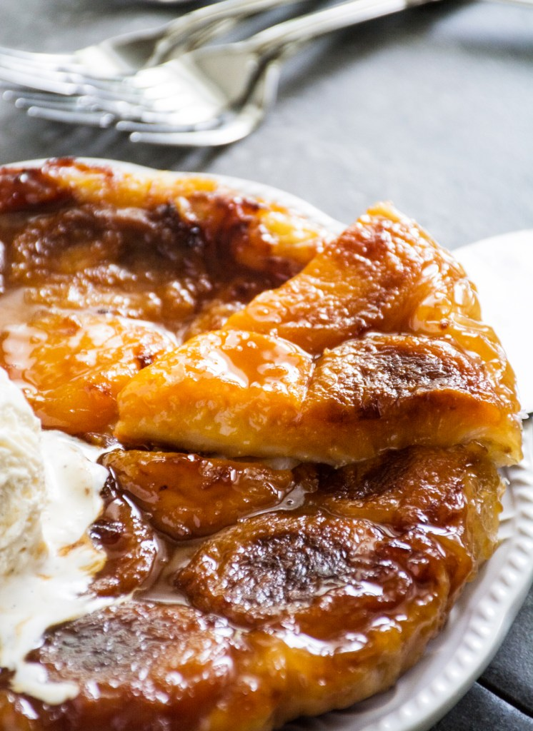 Gingered Peach Tarte Tatin