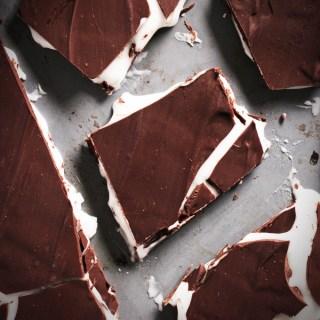 Homemade After Eight Mint Chocolate Bark