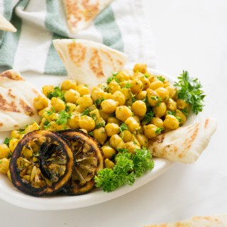 Marinated Chickpea Salad with Preserved Lemons