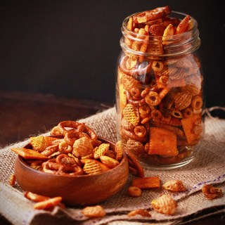 Savoury Crock Pot Snack Mix
