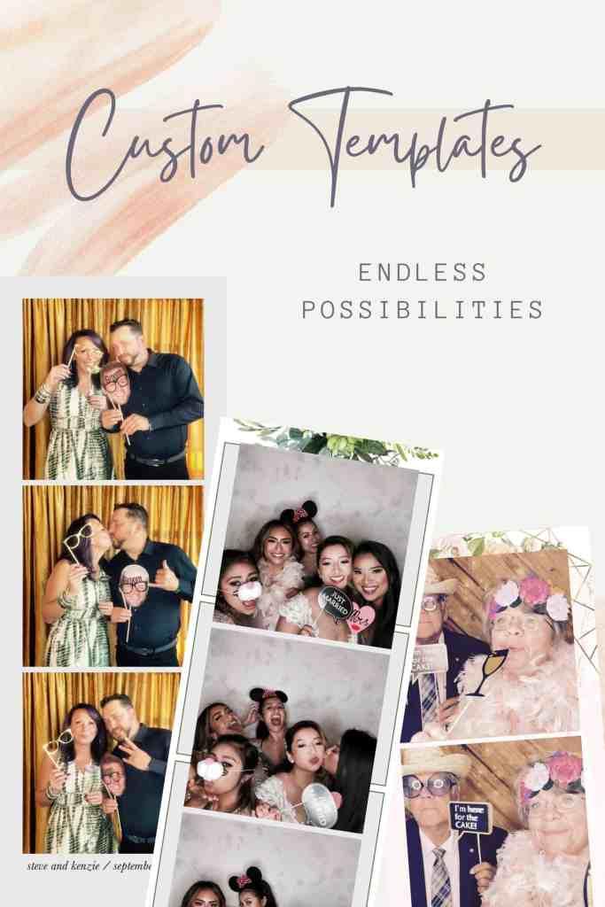 custom photo templates, portapixie photo booths