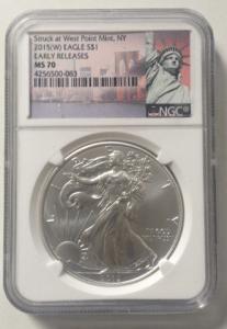 sell graded silver eagles boston