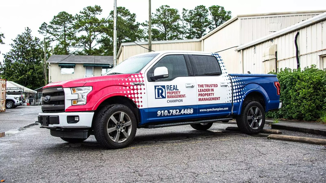 Real Property Management truck wrap