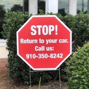 Single Sided Coroplast Yard Sign with stand