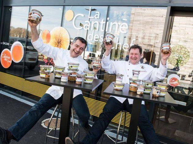 Laurent Bacquer et Jean-Claude Spegagne, fondateurs de La Cantine des Chefs