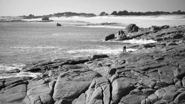 Session d'escalade bretonne en bord de mer
