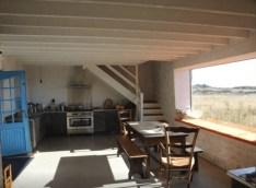 Tronoën (29) : maison de charme vue sur mer et dunes, salon panoramique