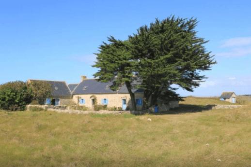 Tronoën (29) : maison de charme vue sur mer et dunes, seul au monde
