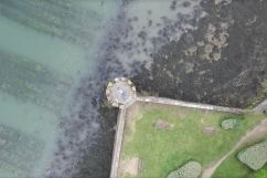 Vue aerienne en drone d'Arradon