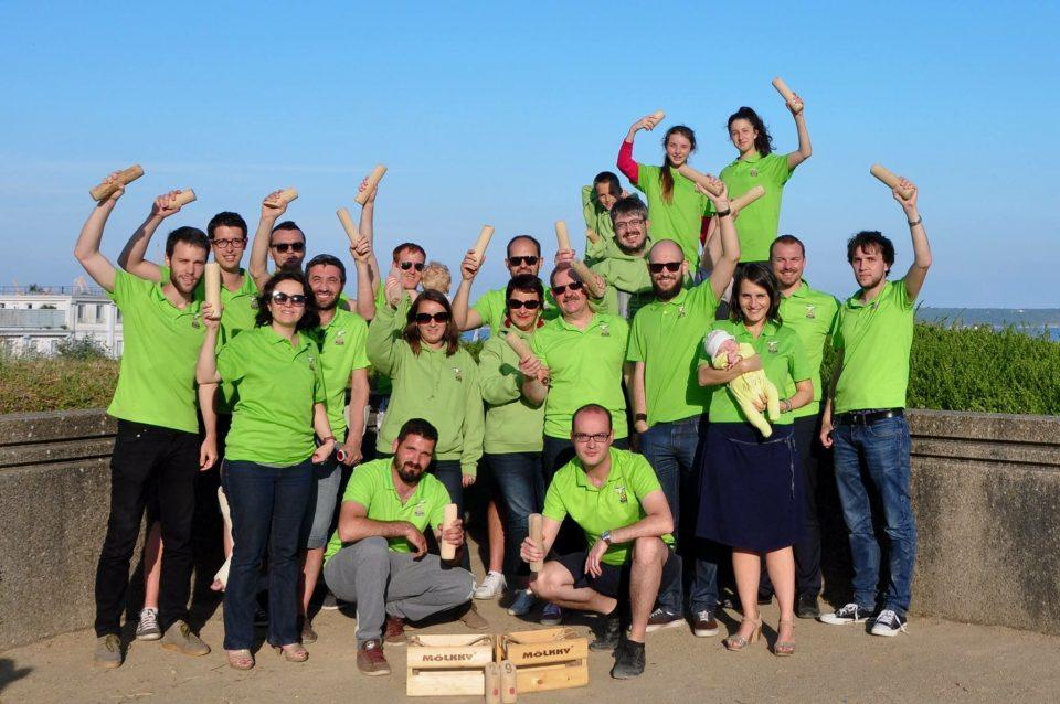 L'équipe du Breizh Izel Mölkky parée pour l'Open Breizh de Mölkky !