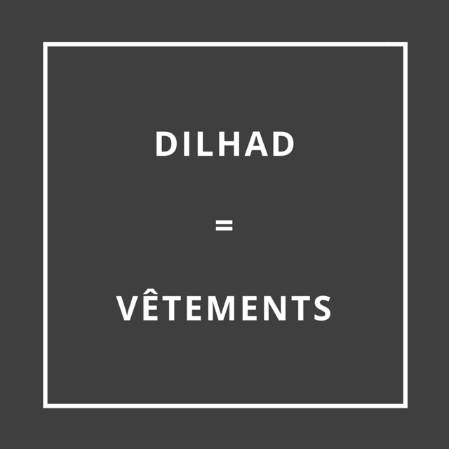 Traduction bretonne : DILHAD = VÊTEMENTS