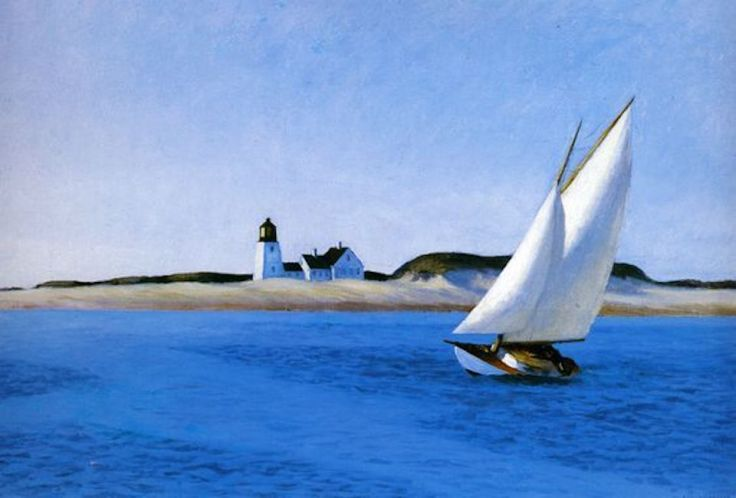 Bateau sur l'océan d'Edward Hopper