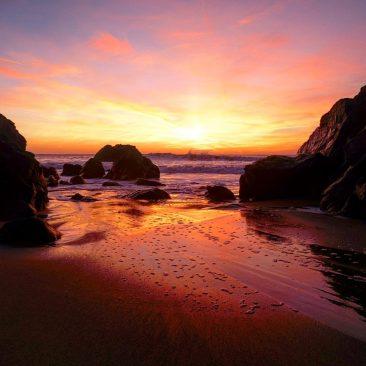 Coucher de soleil sur la Presqu'île de Quiberon