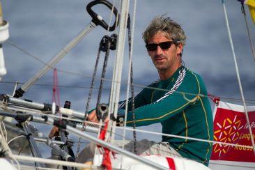 Le skipper et navigateur Vincent Biarnes, qui représente la Baie de Saint-Brieuc à la Figaro 2018