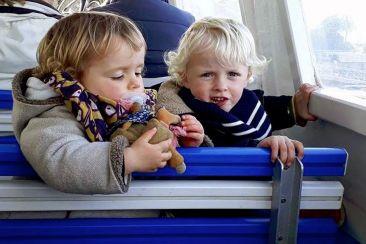 Les kids pendant la traversée