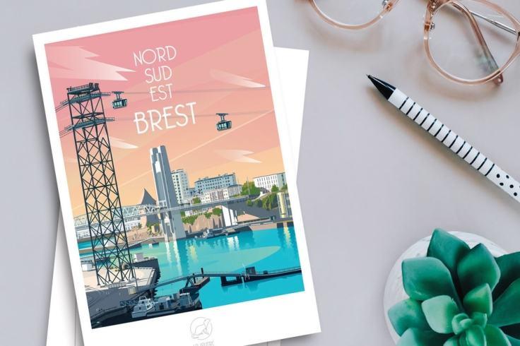 La Loutre, les affiches qui subliment les villes bretonnes