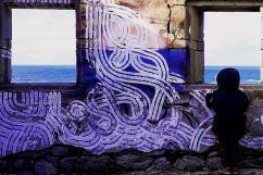 Street art dans la maison des doiniers de la Pointe du Percho