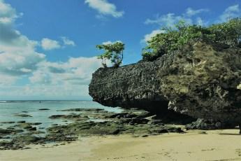 La plage Padang padang à Bali