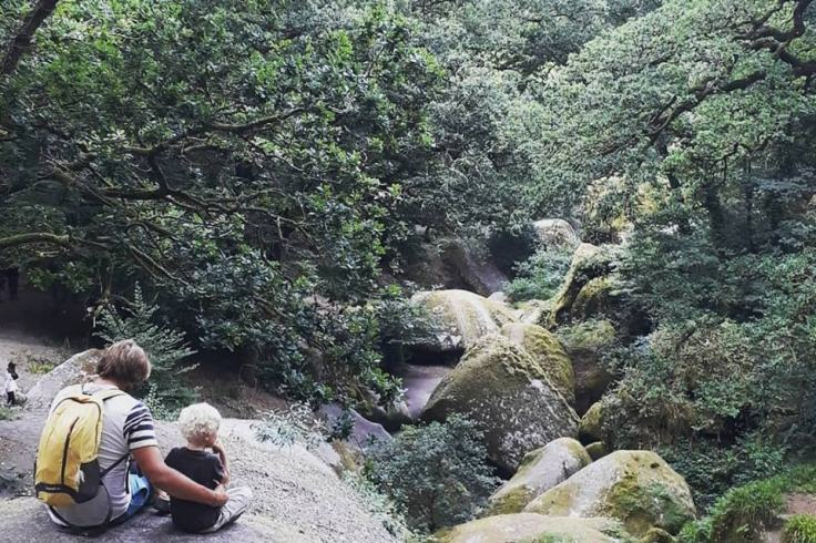 Visite en forêt de Huelgoat