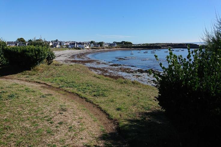 Chemin de randonnée bord de mer sur l'île de Groix