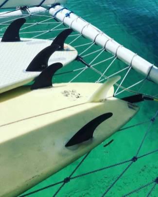 Surftrip Océan Pacifique Siargao Philippines Planche de surf Boat