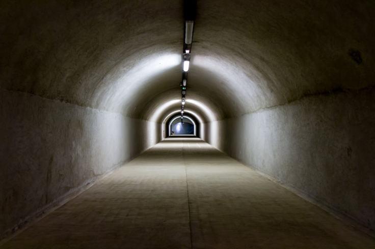 Le tunnel de l'abri Sadi-Carnot