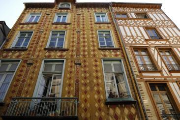 Les maisons à colombages du centre de Rennes