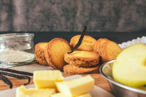 Ce qu'ils sont beaux, nos palets bretons façon tartelettes à la pomme!