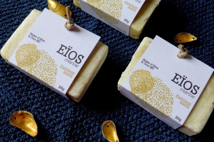 Eïos Marine, savons exfoliants à la barbe de moule et aux huiles végétales et essentielles bio