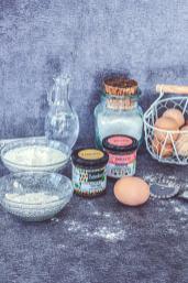 Ingrédients pour cuisiner la recette des raviolis Barbelicot sur une table