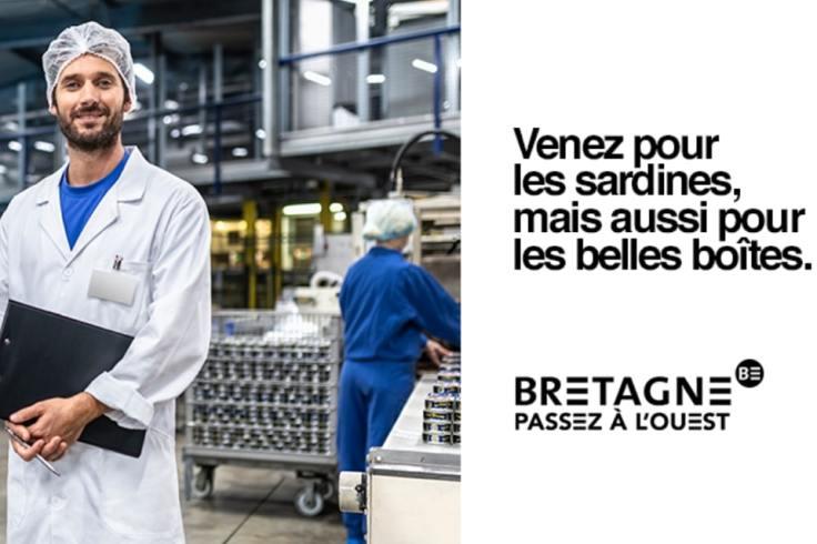 Publicité de la région Bretagne pour recruter dans l'industrie